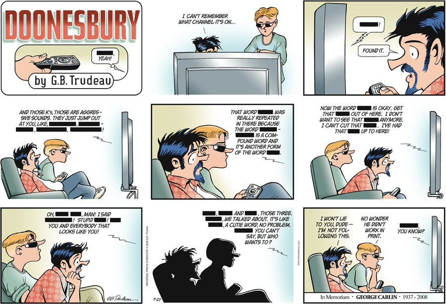 Doonesbury Comic Strip for July 27, 2008