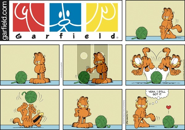 Garfield on Sunday July 7, 2019 Comic Strip