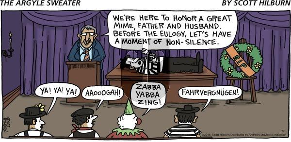 The Argyle Sweater on Sunday July 1, 2018 Comic Strip