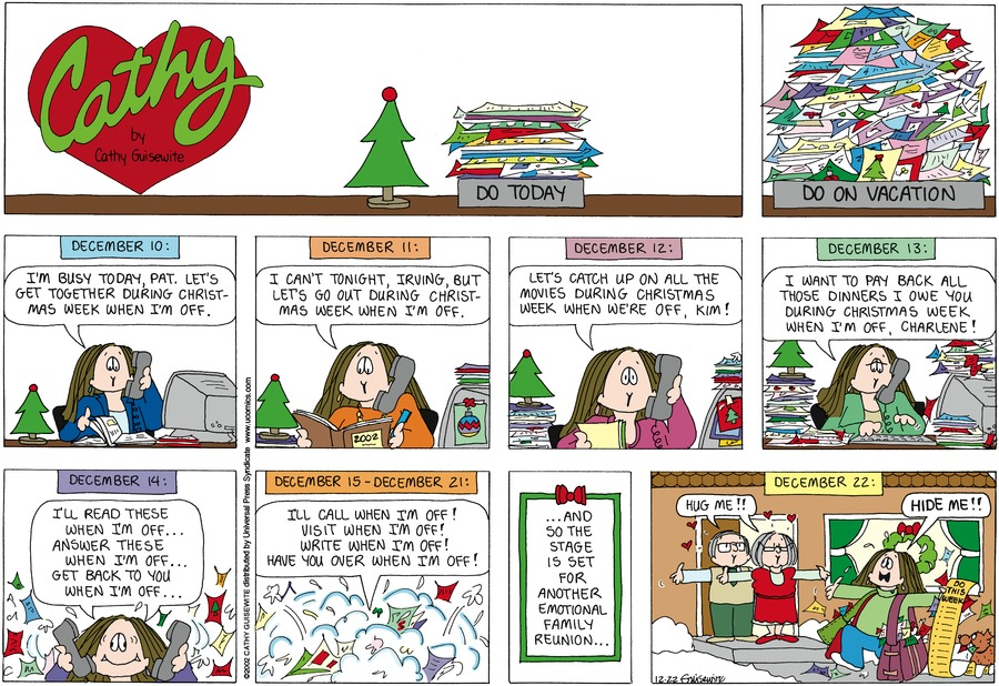 Cathy Comic Strip for December 22, 2002