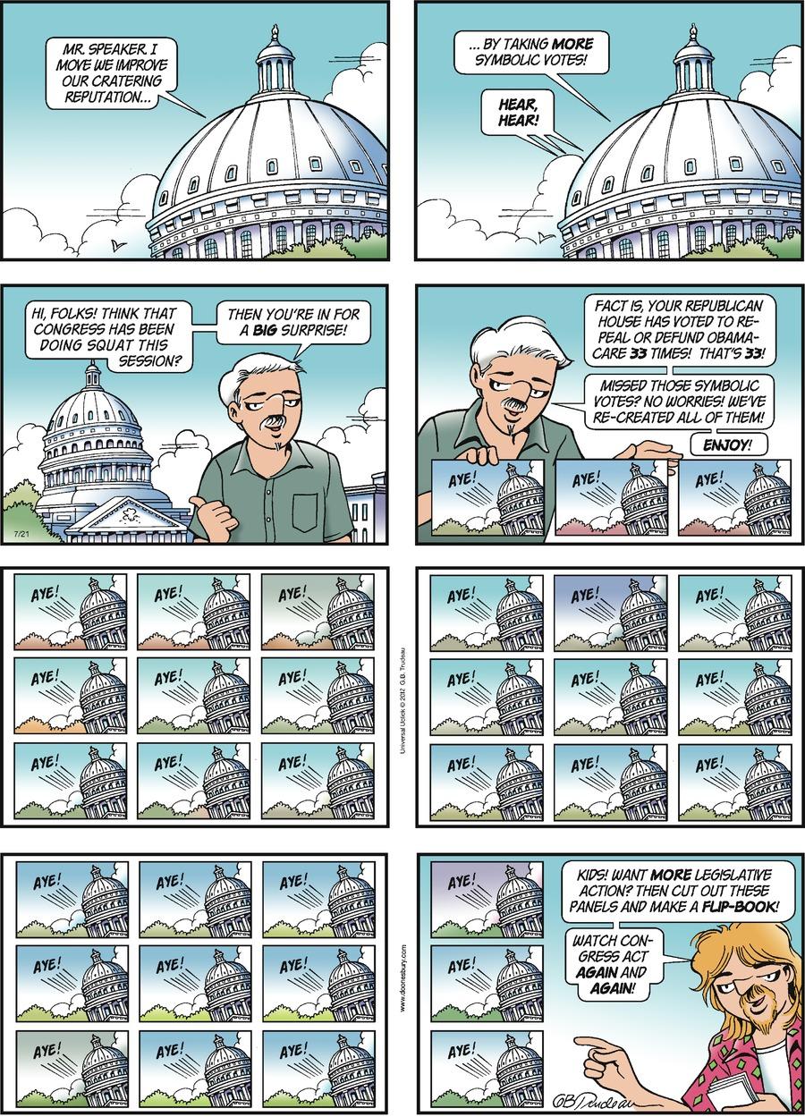Doonesbury for Jul 21, 2013 Comic Strip