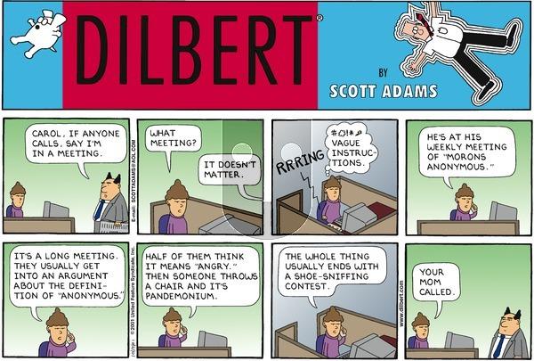 Dilbert - Sunday October 14, 2001 Comic Strip
