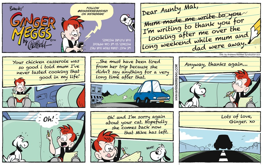 Ginger Meggs Comic Strip for August 25, 2019