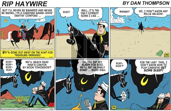 Rip Haywire on Sunday April 26, 2020 Comic Strip