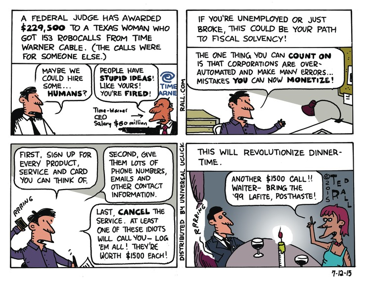 Ted Rall Comic Strip for July 12, 2015