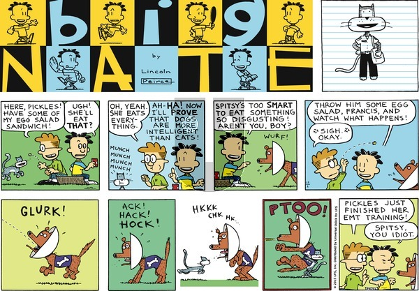 Big Nate on Sunday November 1, 2015 Comic Strip