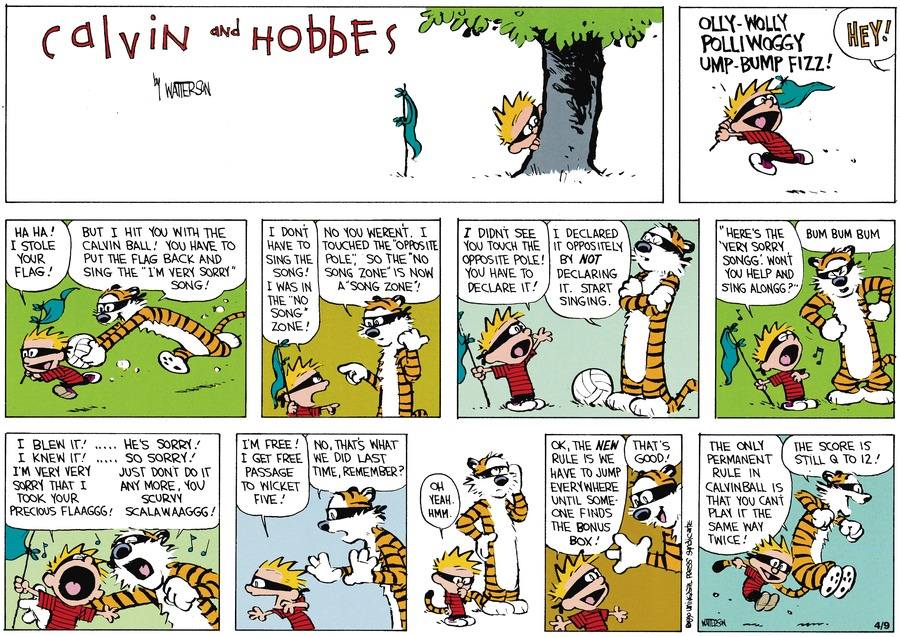 Calvin and Hobbes Comic Strip for May 27, 1990