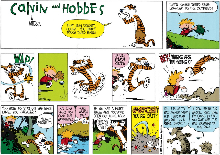 Calvin and Hobbes Comic Strip for August 09, 1987