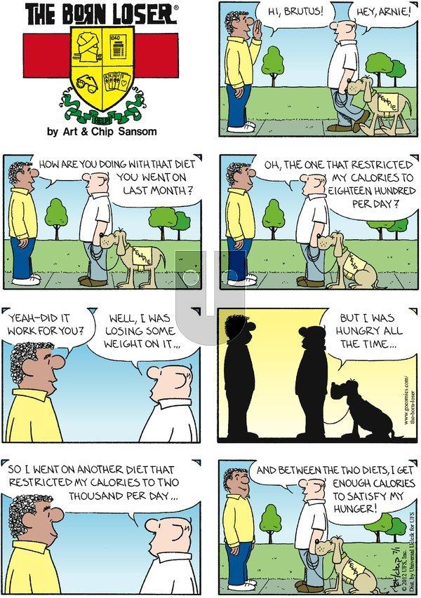 The Born Loser on Sunday July 1, 2012 Comic Strip
