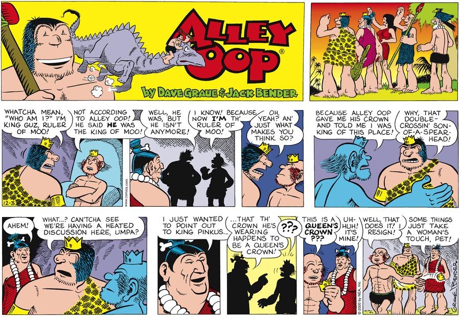 Alley Oop for Dec 3, 2000 Comic Strip