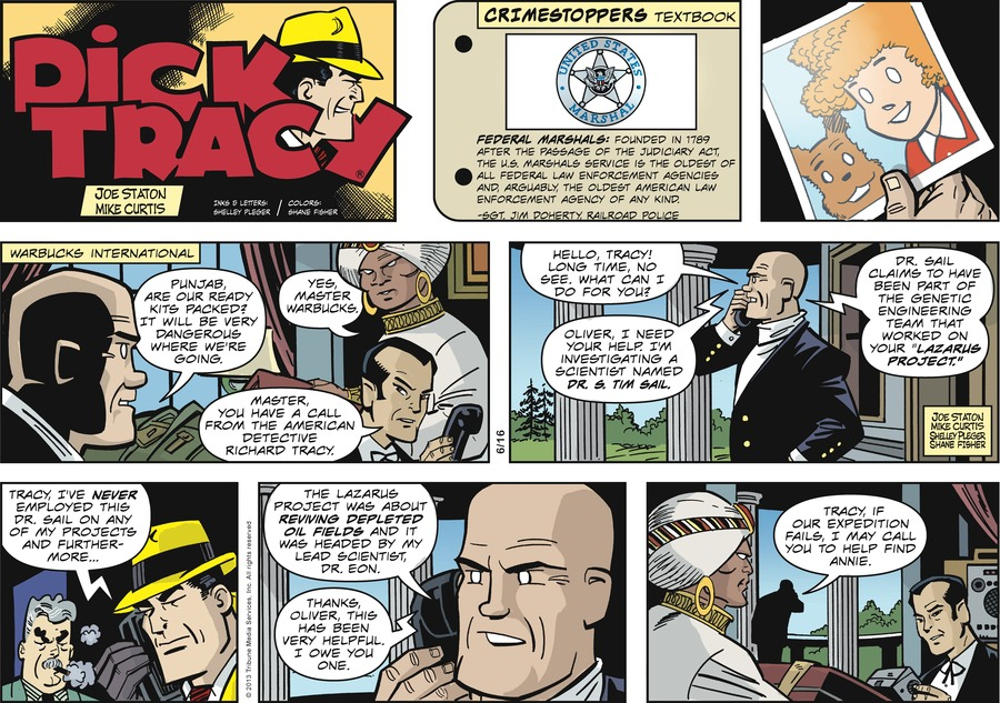 Dick Tracy Comic Strip for June 16, 2013