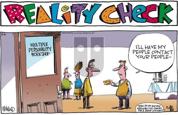 Reality Check on Sunday September 16, 2018 Comic Strip