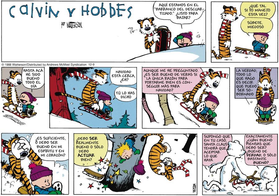 Calvin and Hobbes en Español by Bill Watterson for December 09, 2018