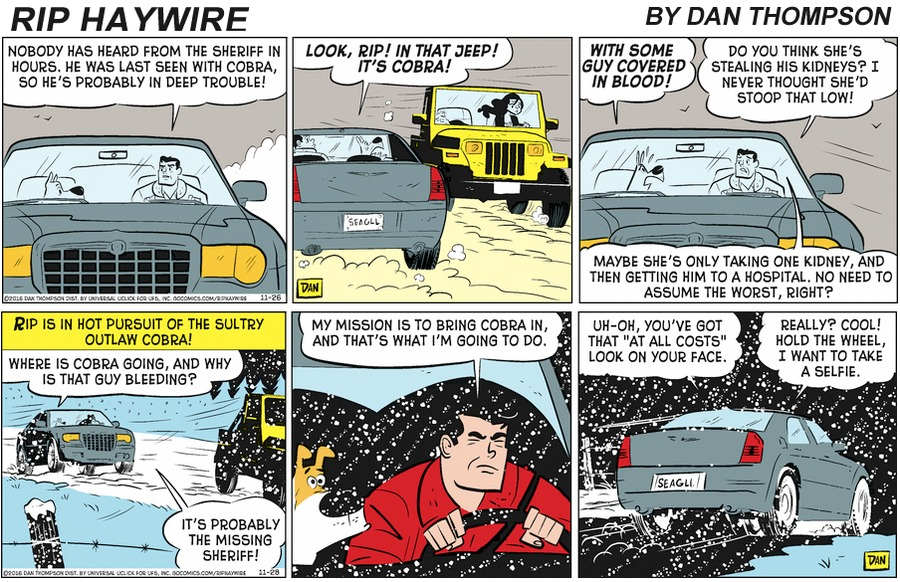 Rip Haywire Comic Strip for February 02, 2020