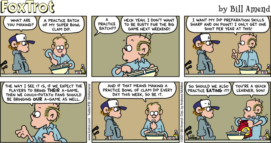 FoxTrot by Bill Amend on Sun, 31 Jan 2021
