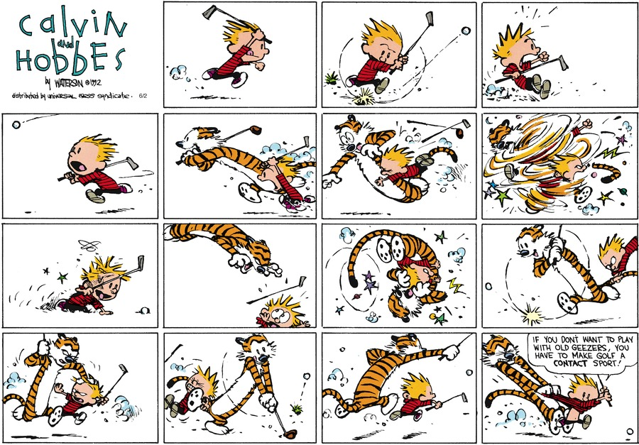 Calvin and Hobbes Comic Strip for July 19, 1992