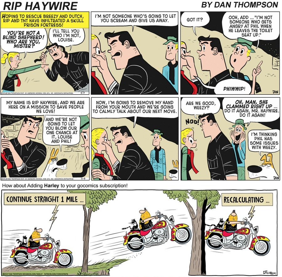 Rip Haywire Comic Strip for September 13, 2020