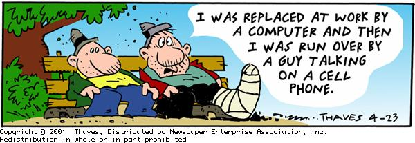 Frank and Ernest Comic Strip for April 23, 2001