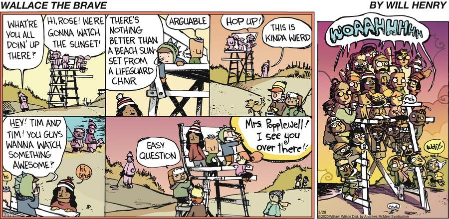 Wallace the Brave Comic Strip for March 29, 2020