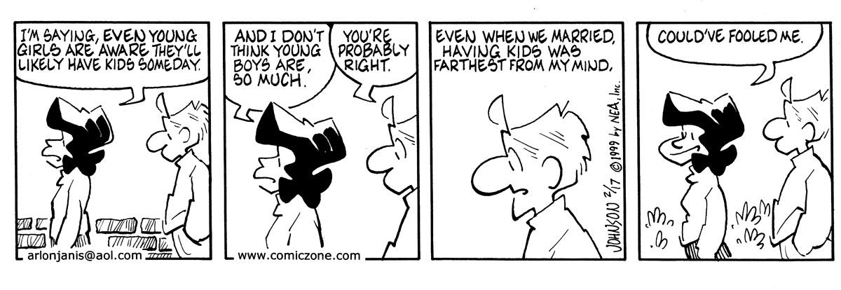 Arlo and Janis for Feb 17, 1999 Comic Strip