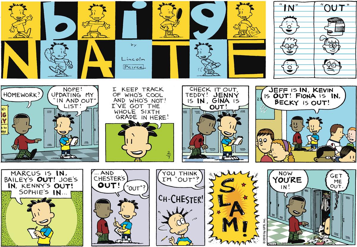 Big Nate Comic Strip for February 07, 2010