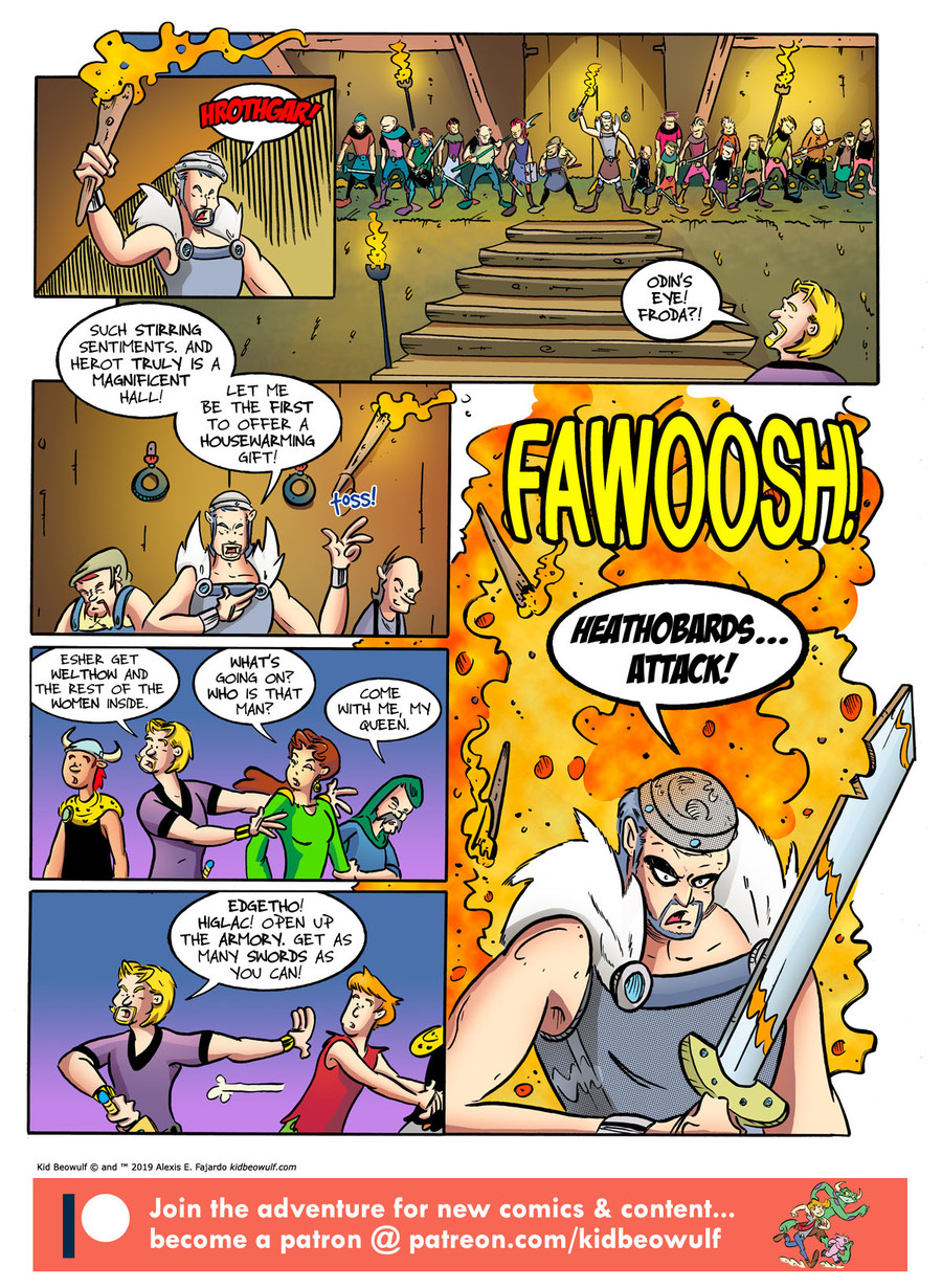 Kid Beowulf Comic Strip for July 22, 2019