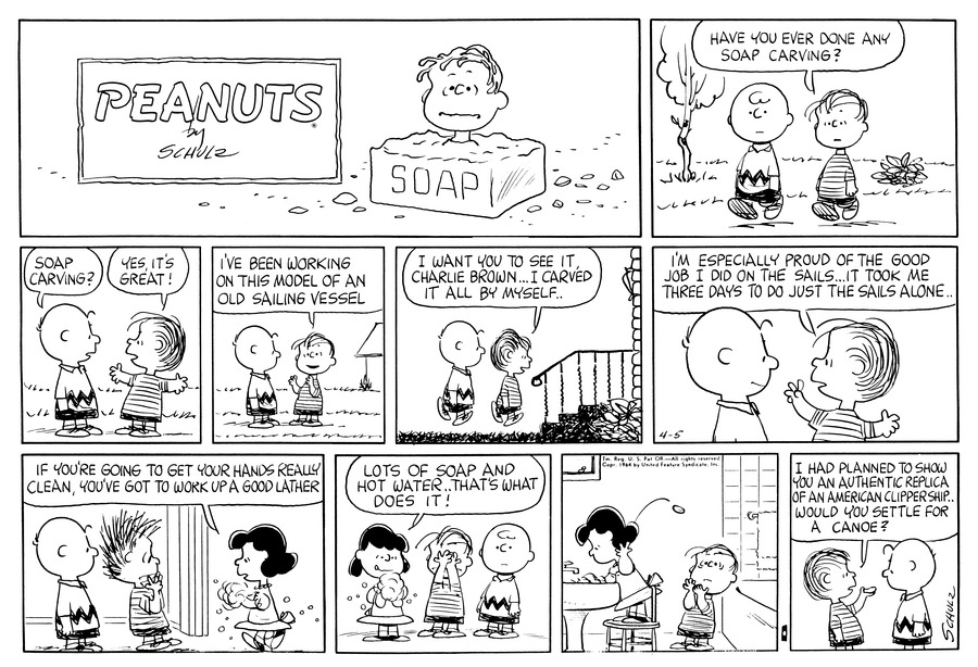 Peanuts Comic Strip for April 05, 1964