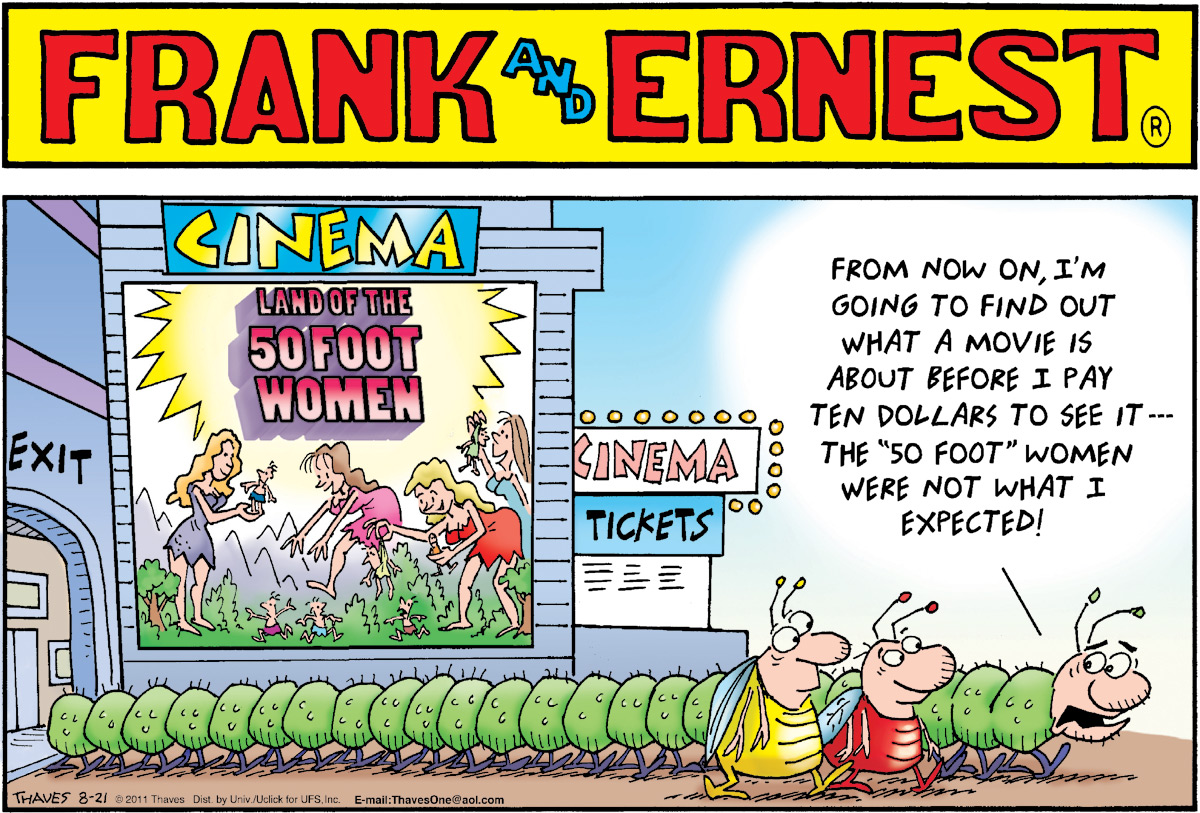 Frank and Ernest Comic Strip for August 21, 2011