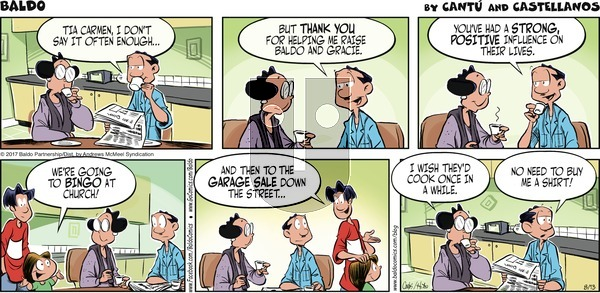 Baldo on Sunday August 13, 2017 Comic Strip