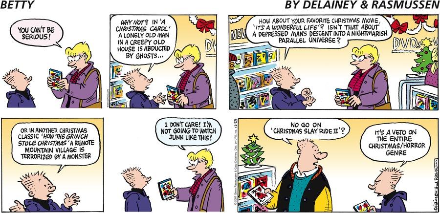 Betty Comic Strip for December 23, 2007