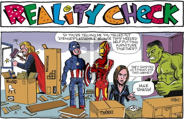Reality Check on Sunday October 3, 2021 Comic Strip