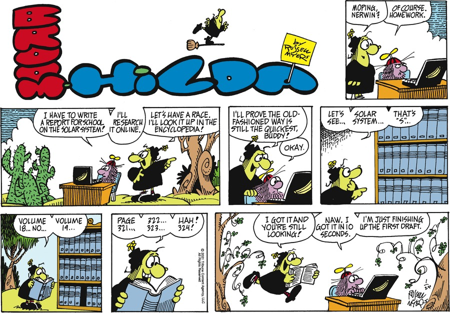 Broom Hilda Comic Strip for January 24, 2021