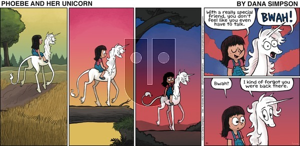 Phoebe and Her Unicorn on Sunday September 1, 2019 Comic Strip