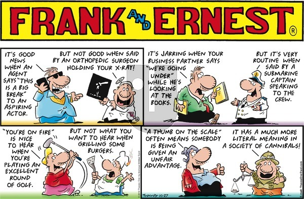 Frank and Ernest on Sunday October 27, 2019 Comic Strip