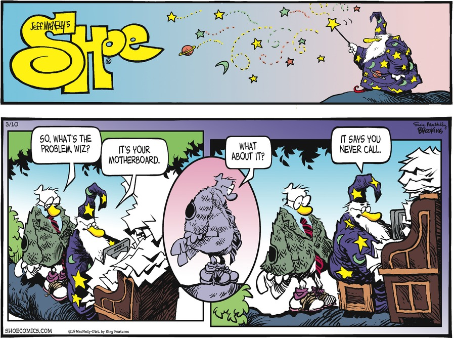 Shoe by Gary Brookins and Susie MacNelly for March 10, 2019