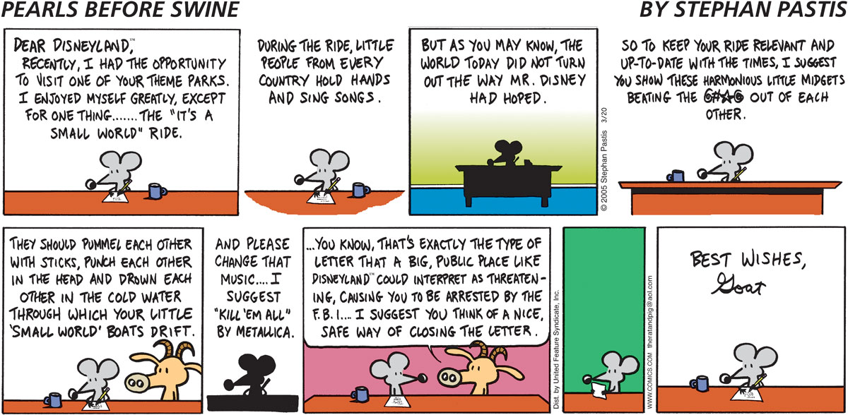 Pearls Before Swine Comic Strip for March 20, 2005