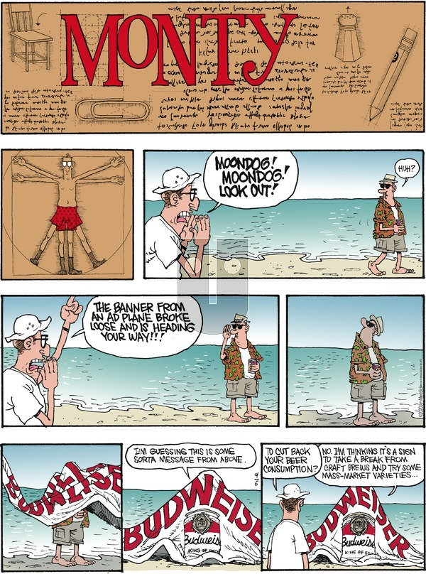 Monty on Sunday September 6, 2020 Comic Strip