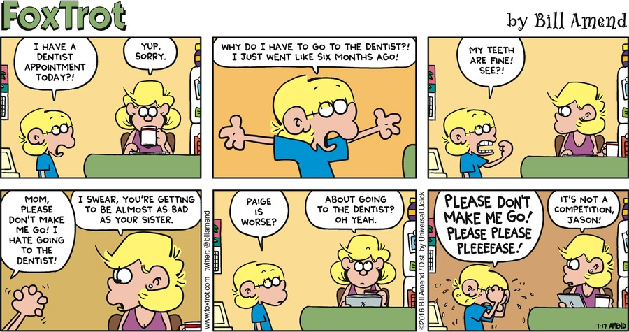 FoxTrot Comic Strip for July 17, 2016