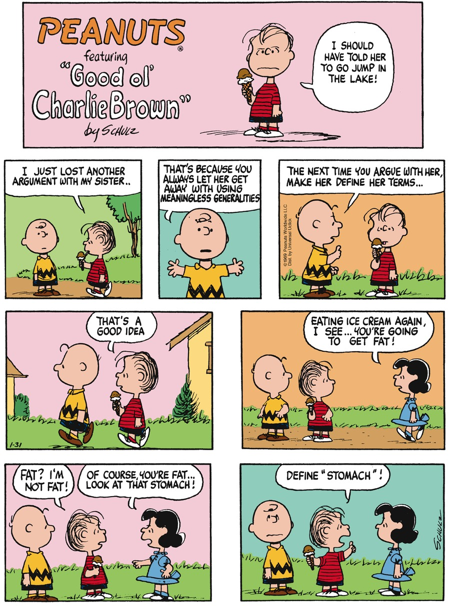 Peanuts Comic Strip for January 31, 2016
