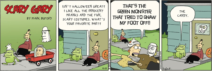 Scary Gary Comic Strip for October 25, 2020