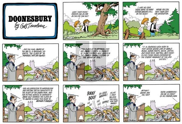 Doonesbury on Sunday May 31, 1981 Comic Strip