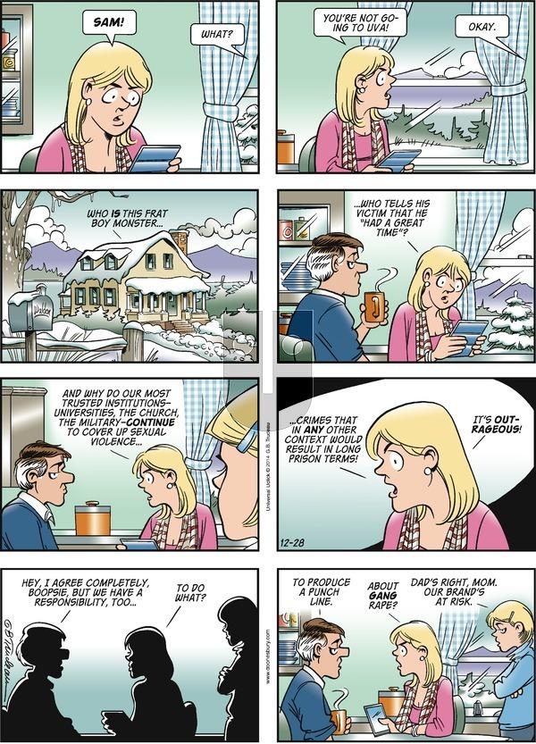 Doonesbury - Sunday December 28, 2014 Comic Strip