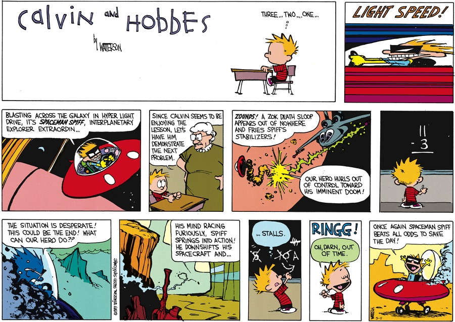 Calvin and Hobbes Comic Strip for May 11, 2014