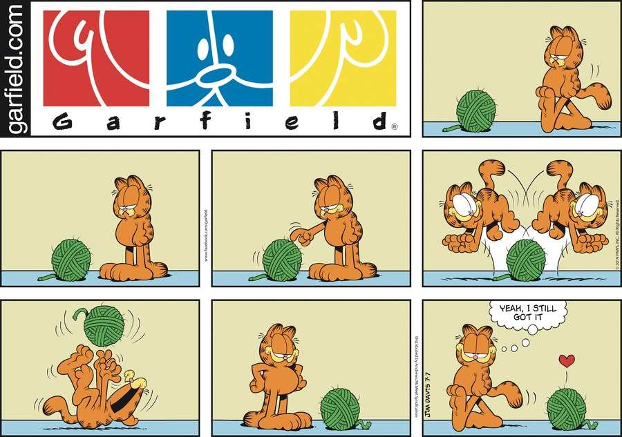 Garfield Comic Strip for July 07, 2019