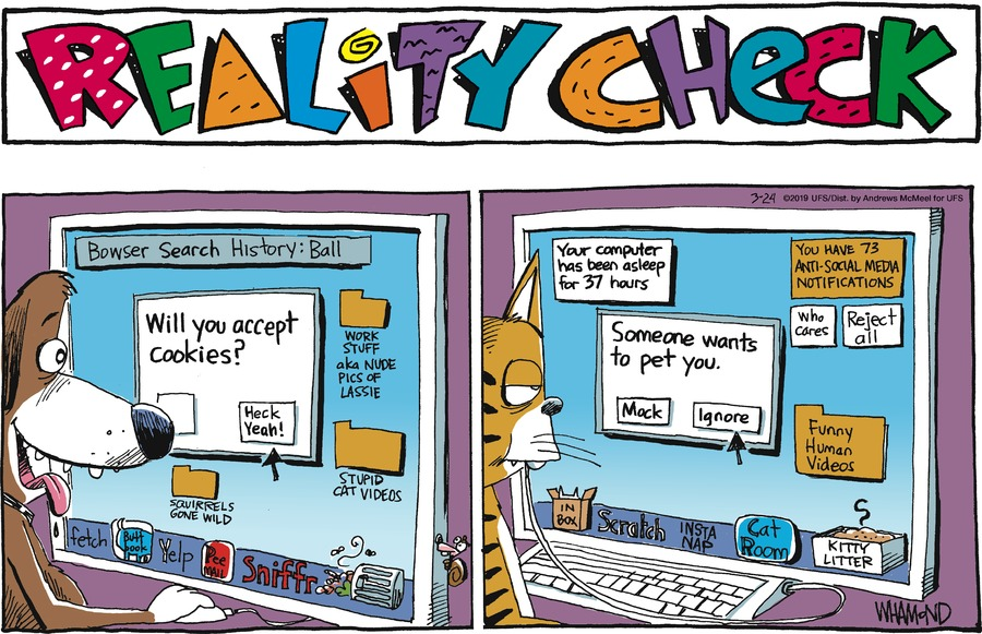 Reality Check Comic Strip for March 24, 2019