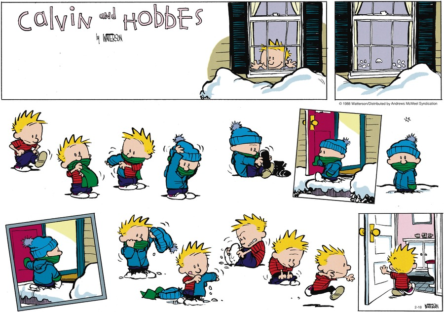 Calvin and Hobbes for Feb 18, 2018 Comic Strip