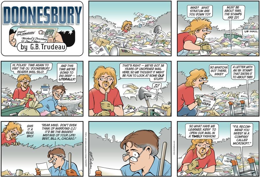 Doonesbury Comic Strip for March 08, 2009