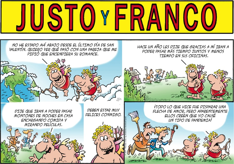 Justo y Franco Comic Strip for February 14, 2021