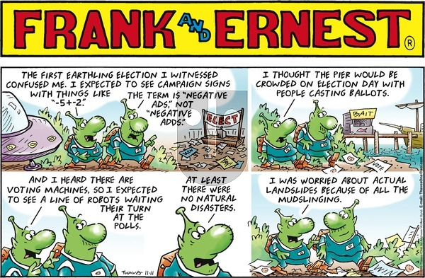 Frank and Ernest on November 11, 2018 Comic Strip