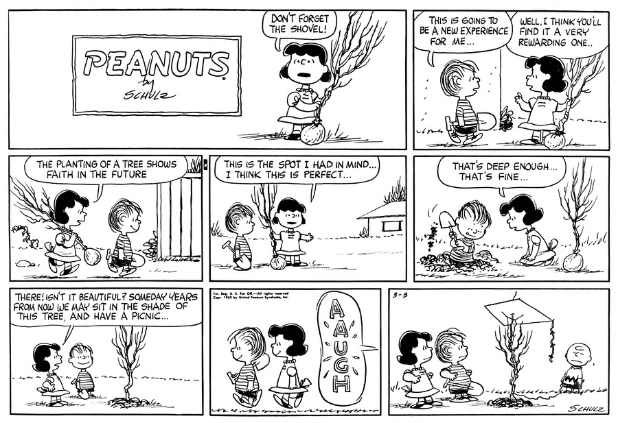 Peanuts Comic Strip for March 03, 1963